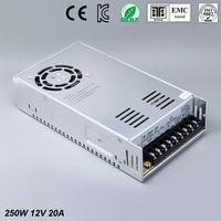 12V 20A 250W Switching Power Supply Driver For LED Strip AC 100 240V Input To DC