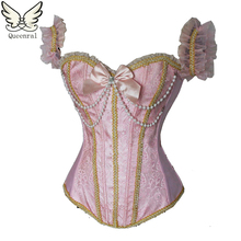 sexy lingerie gothic clothing corselet steampunk Pearl corset waist trainer corsets corset waist trainer corsets and bustiers