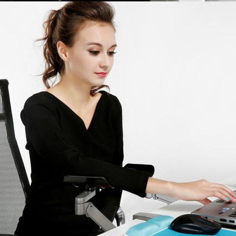 FFFAS Support de bras de bureau en alliage d'aluminium tapis de souris Spinner Support de main épaule protéger gamer tapis de souris de jeu tapis de clavier - 3