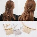 Venda elástico del pelo Accesorios headwear Updo creativo cabeza de metal cuerda de Pelo de moda Peines cuernos de plata Ramas de oro trenzado