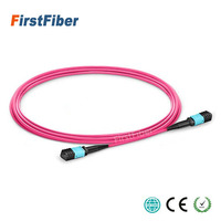 15m MPO Fiber Patch Cable OM4 UPC jumper Female to Female 12 Cores Patch Cord multimode Trunk Cable,Type A Type B Type C