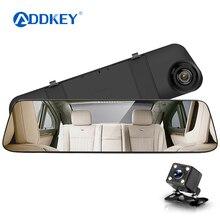 ADDKEYcam зеркало автомобиля dvr зеркало двойной тире камеры двойной камеры зеркало dashcam 1080 P dashcamera в автомобиль видео камера full hd dvrs