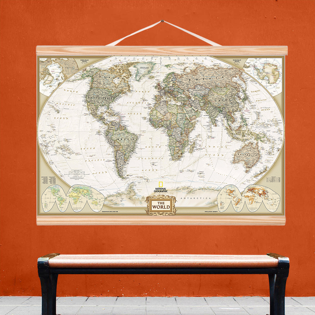 Qkart wall art world map wall art pictures canvas wooden scroll qkart wall art world map wall art pictures canvas wooden scroll paintings for living room posters gumiabroncs Images