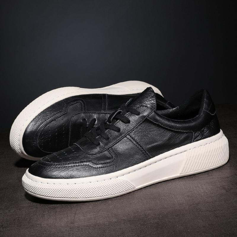 blanc Hommes Noir Mycoron Sapatenis Masculino Chaussures Nouveau Hiver Automne De À Véritable Lacets Pointu Marque Bout Bottes Luxe En Cuir wwAqIH
