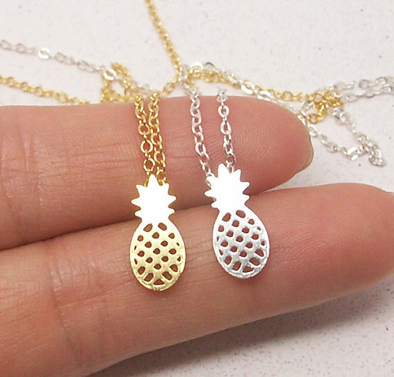 Jisensp 30pc Fashion Jewelry Dainty Pineapple Accessories Necklace Everyday Fruit Women Necklace N183