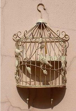 The birds in the forest Do old, wrought iron Bird cages hanging wall act role ofing racks hook Two color