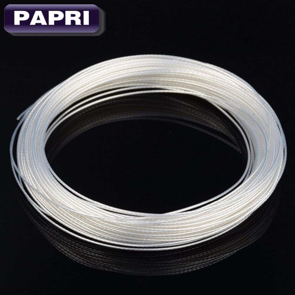 Gehorsam Papri Diy Verstärker Kabel 0.20mm2 Teflon Hohe Reinheit Occ Kupfer Silber Draht Für Audio Wag 22 Wag 24 0,23 X7strands