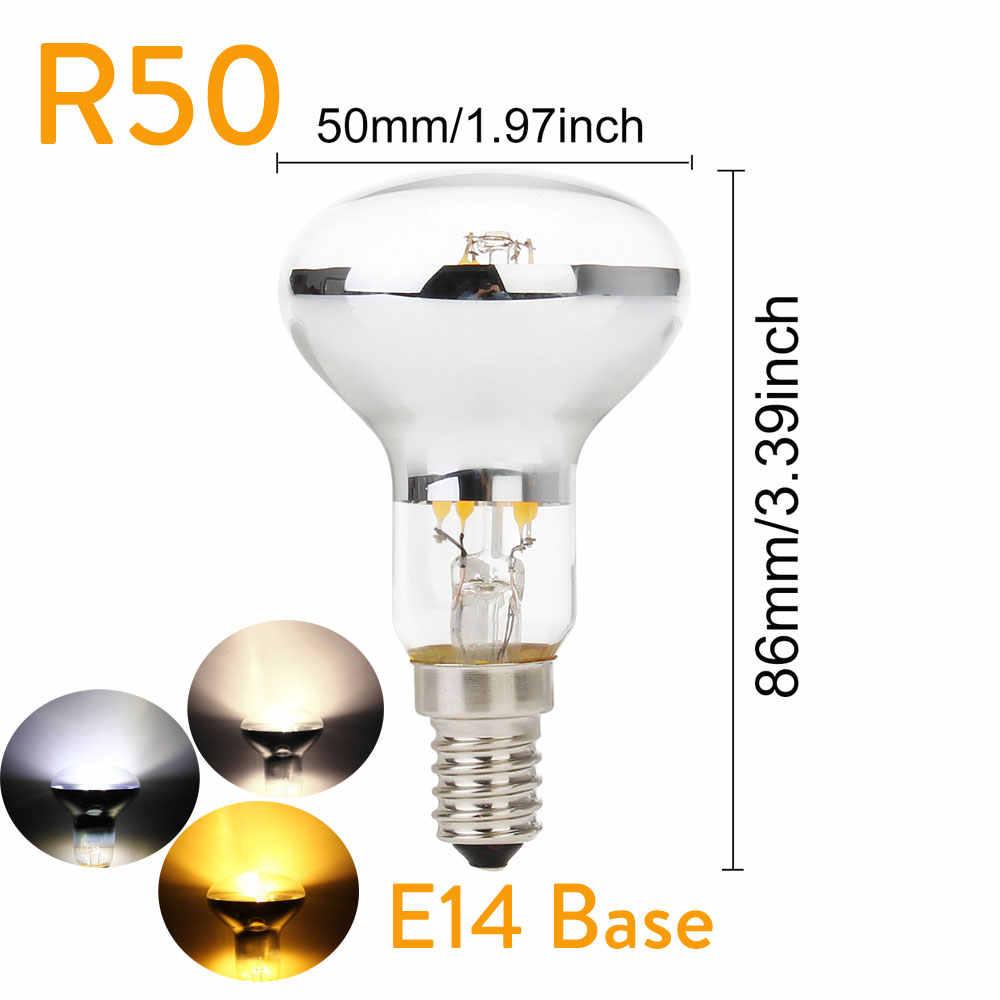 Vintage ampoule à LED edison R50 R63 R80 E27 E14 rétro réflecteur Filament 4 W 5 W 6 W économie d'énergie lumière remplacer incandescente 60 W lampe