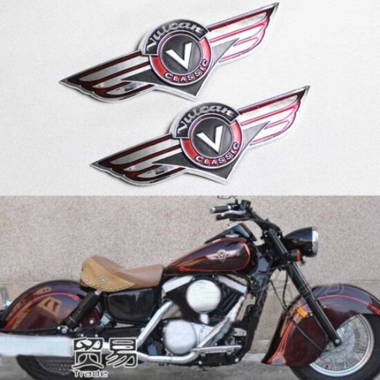 Chrome Motorcycle Gas Tank Emblem Badge Dimensional Design For