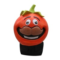Fortress Night Game Battle Royale Tomato Head Crown Mask Tomato Head Crown Full Face Mask Halloween Adult Costume Carnival Masks