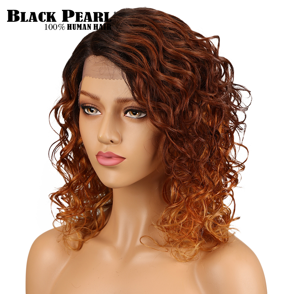 Black Pearl Remy Brazilian Body Wave Wig 130% Density Lace Front Human Hair Wigs Ombre Color Wig Free Shipping