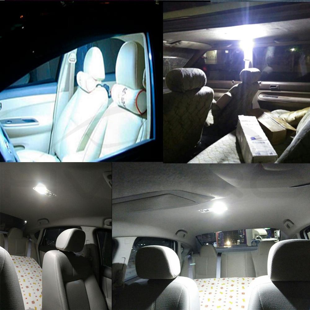 Hviero Promotion 1Pcs White T10 24 36 48 Smd Cob Led Panel Car Auto Interior Reading Map Lamp Bulb Light Dome Festoon BA9S 3Adapter DC 12v