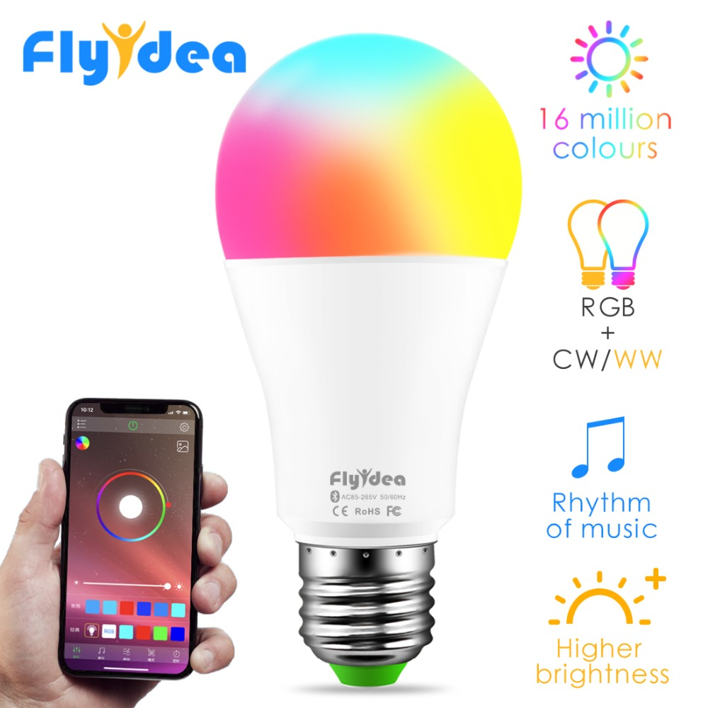 New Wireless Bluetooth4.0 Smart Light Bulb RGBW Android LED Home Lighting Color Changing Magic Memory Lamp Google Play/APP Store