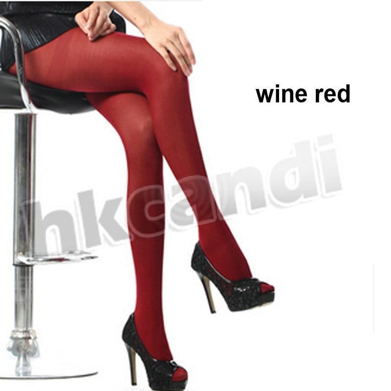Tights Wine Red Opaque Women Sexy Pantyhose Spring Autumn PantyHose Nylon Seamless Tights Stockings Hosiery BA010