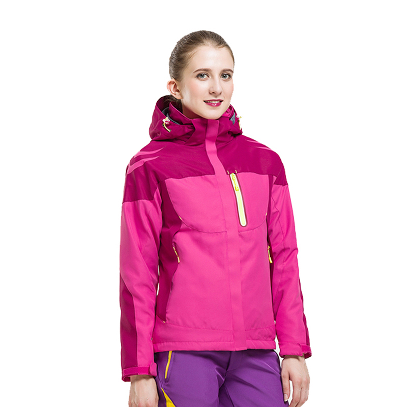 2017 Outdoor Sport Chaquetas Mujer Hiking Camping 3 In 1 Winter Ski Waterproof Jacket Women Windbreaker Coat Fishing Clothing 3 in 1 outdoor jacket windproof waterproof coat women sport jackets hiking camping winter thermal fleece jacket ski clothing