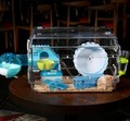 Large Hamster Cage Funny Guinea Pig Cage Acrylic Small Pets Mice House Chinchilla Ferret Hedgehog Hamster Accessories CW053