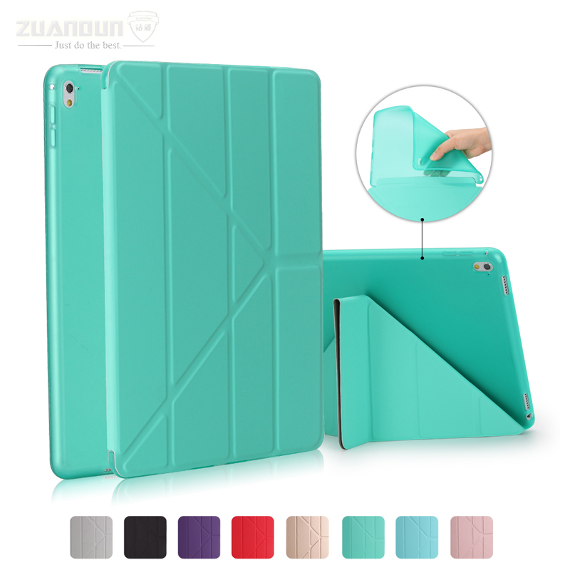 For iPad Pro 9.7 Case Tablet Flip Smart Case PU Leather Stand Cover For iPad Pro 9.7 inch Soft TPU Back Cover Auto Sleep/Wake Up zuandun flip smart case for ipad air 2 luxury leather stand silicon soft tpu back cover for ipad 6 tablet case auto wake sleep