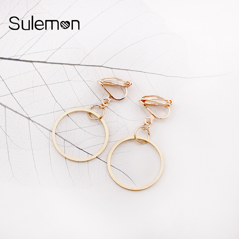Geometrisk Round Clip Earring Inga Pierced Ear Clips Trendiga - Märkessmycken - Foto 3