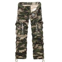 Лидер продаж «весна-осень» Модные прочные брюки-карго Для мужчин хлопок Повседневное военные брюки Для мужчин Pantalon Homme