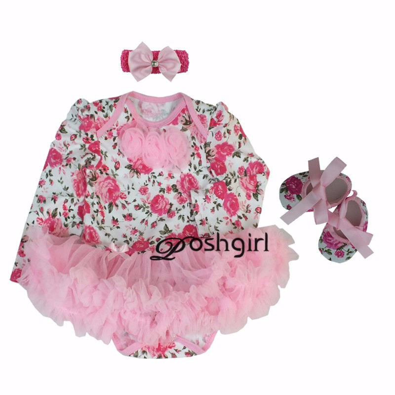Baby Girl Infant 3pcs Clothing Set Long Sleeve Leopard Cupcake Minnie Tutu Dress Jumpersuit Bebe Birthday Party Costumes Vestido
