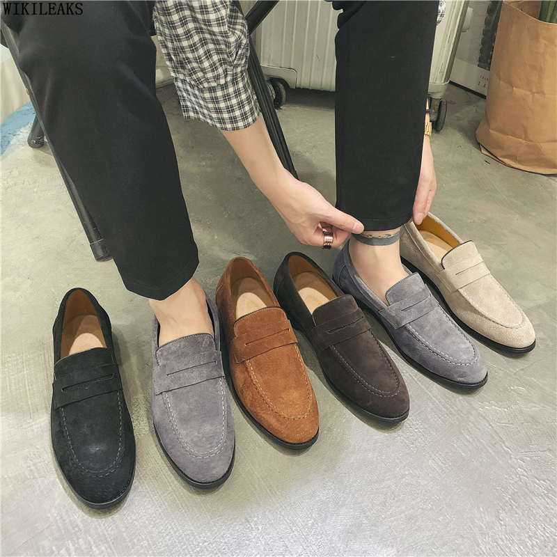 Loafers Men Dress Shoes Leather Luxury