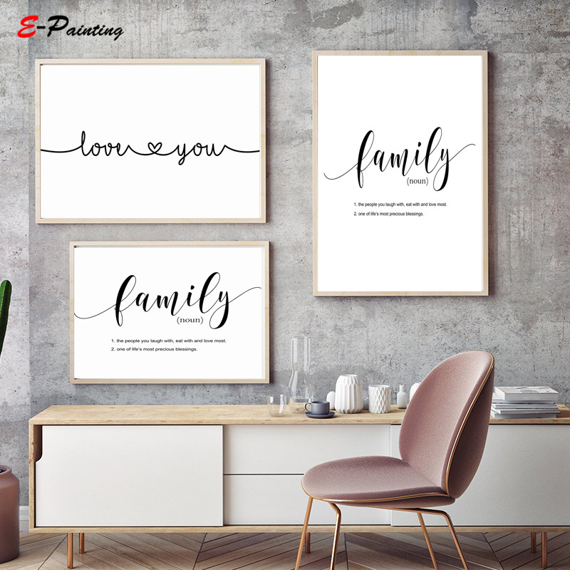 Us 3 55 29 Off Modern Wall Painting Canvas Print Couple Wall Art Gift For Couple Love You Print Bedroom Romantic Text Decor Christmas Gift In