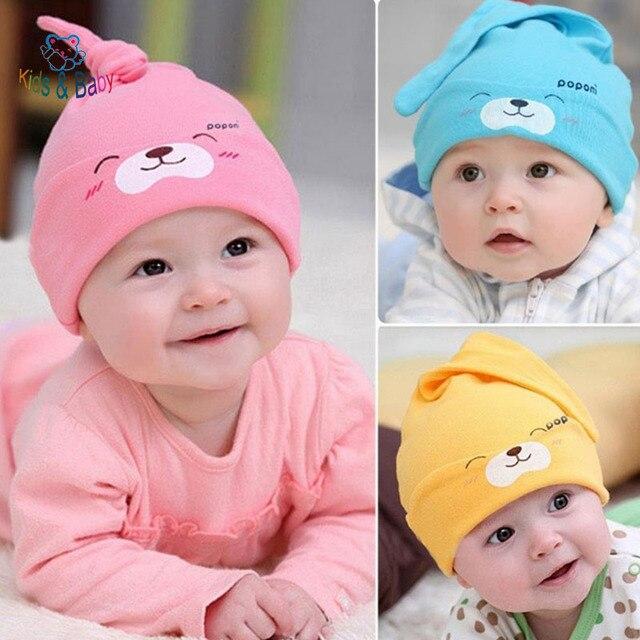 Baby &Kids New Baby Hat Autumn Winter Baby Beanie Warm Sleep Cotton Toddler Cap Kids Newborn Clothing Accessories Hat
