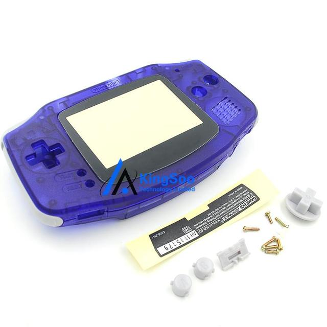 8b6cddd6868 Transparent   Clear Blue Housing Case for Gameboy Advance GBA Shell Cover Replacement  Parts with Original logo