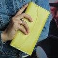 8 Цветов Длинные Дизайн Женщины Кошельки Высокое Качество Натуральной Кожи Мода Стиль Женский Кошелек, Бумажники, Держатели Кошелек Carteira Feminina