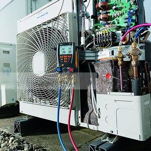 Image 4 - Manometer Kälte Testo 549 Digitale Verteiler HVAC Gauge System Kit Meter 0560 0550 LCD Digital Manometer