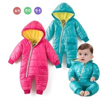 Special Offer Winter Style Warm and Soft Baby Down Jacket Jumpsuits 3024