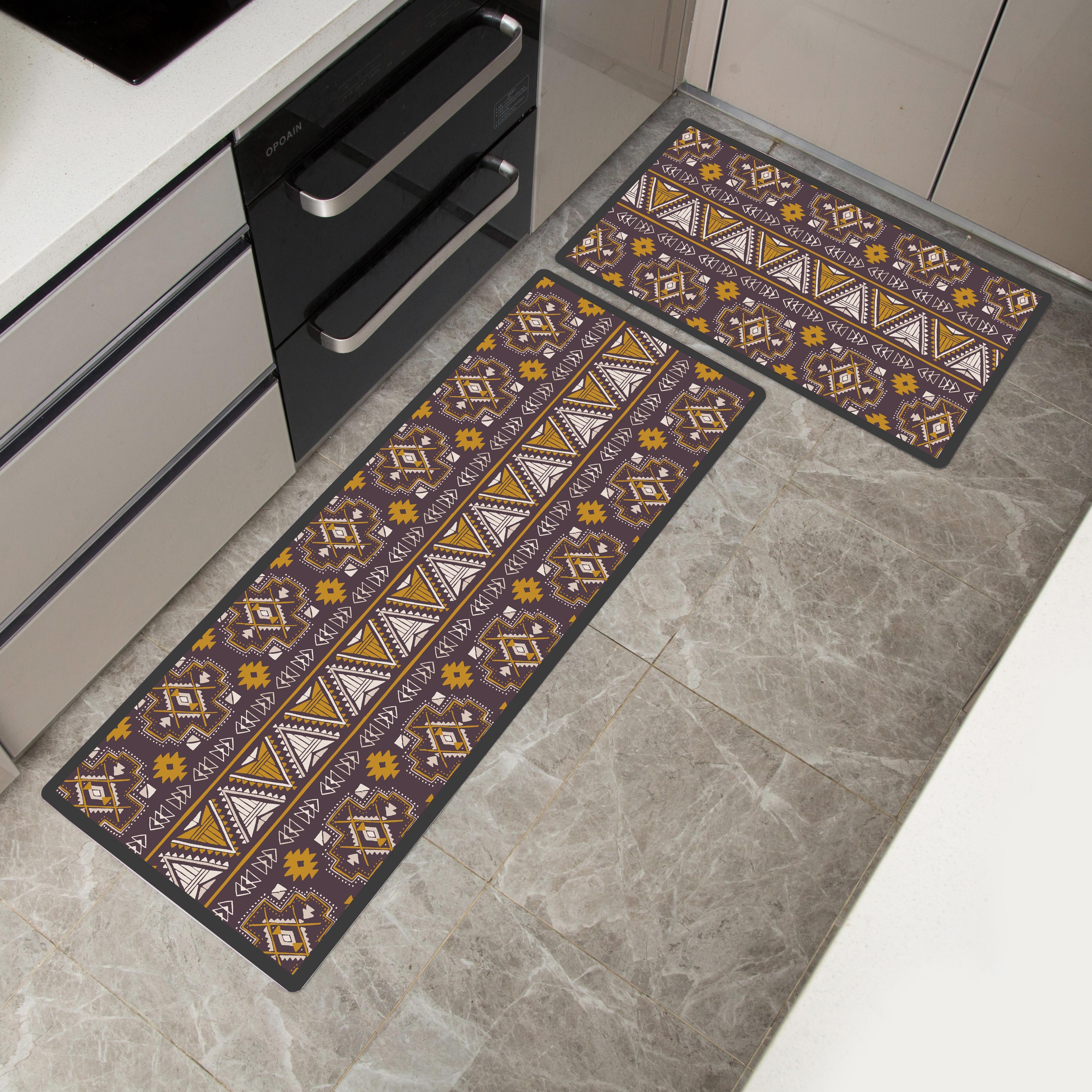 Image 4 - African Pattern Print Home Mat Waterproof Kitchen Carpet  Non slip Bath Mats Bed Front Mats  Floor Mat kitchen Rug-in Mat from Home & Garden