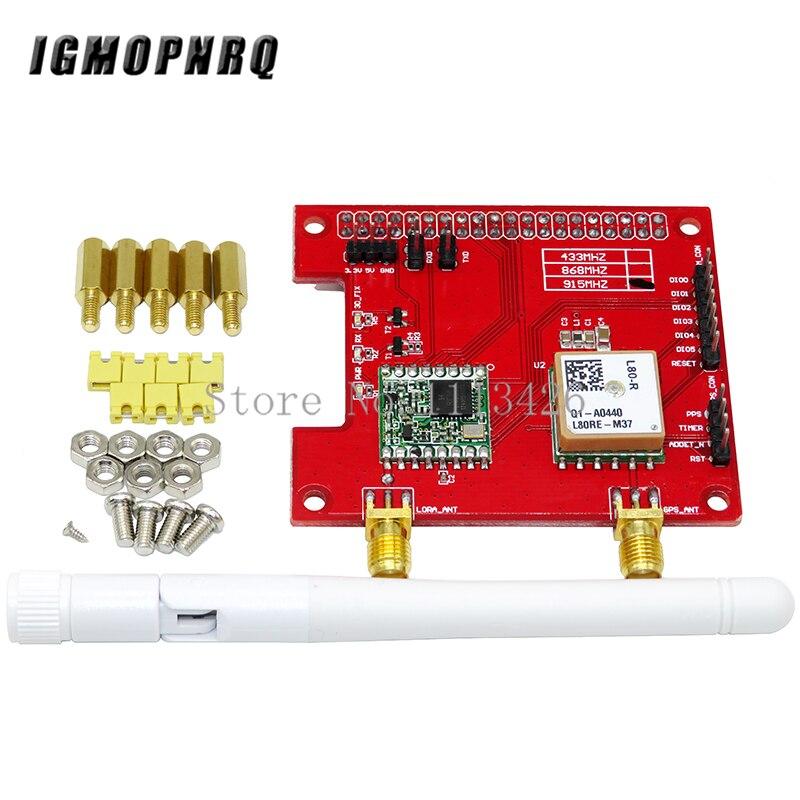 LorGPS HAT V1.0 versión Lora/GPS_HAT es un módulo de gasto para LoRaWan y GPS para ues con frambuesa pi/433/868/915 mhz