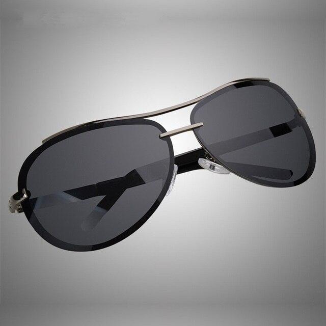 6c31fb280b3 Cubojue 160mm Rimless Polarized Sunglasses Men Oversized Aviation Frog  Black Sun Glasses for Man Driving Male