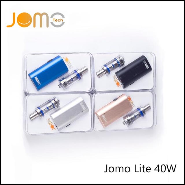 Jomotech originais lite eletrônico kit cigarro 2200 mah ecig caixa mod 0.5ohm 40 w subohm kit com 4 ml de vidro tanque + carregador jomo-002