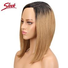Sleek Human Hair Bob Wig Remy Straight Human Hair Wigs Non L