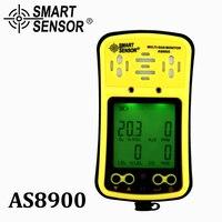 AS8900 Multi газовый монитор портативный газовый детектор кислород O2 гидротион H2S Угарный газ CO горючий газ 4 в 1 газовый анализатор