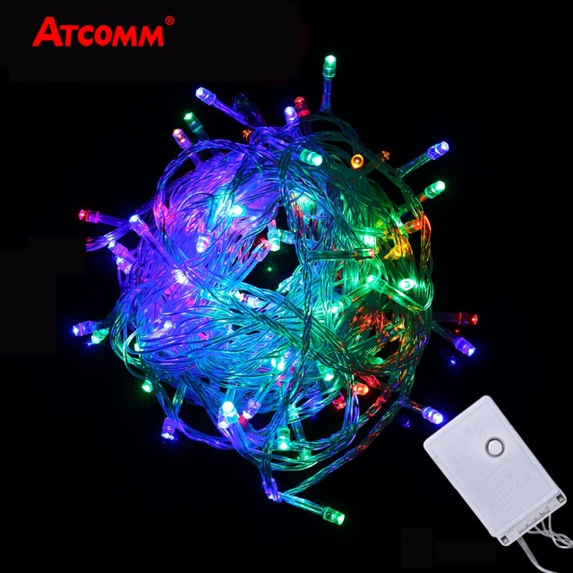 Rgb Led Christmas Lights.Us 3 91 21 Off Rgb Led String Lights 10 Meters Christmas Lights Waterproof Outdoor Decoration Lighting 110v 220v Rgb Led Garland Fairy Lights In Led