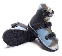 3648d8115 Sandália Da Criança. Princepard 2018 New Boy S Navy High Top Ankle Support  Orthopedic Genuine Leather Sandal Toddler Little