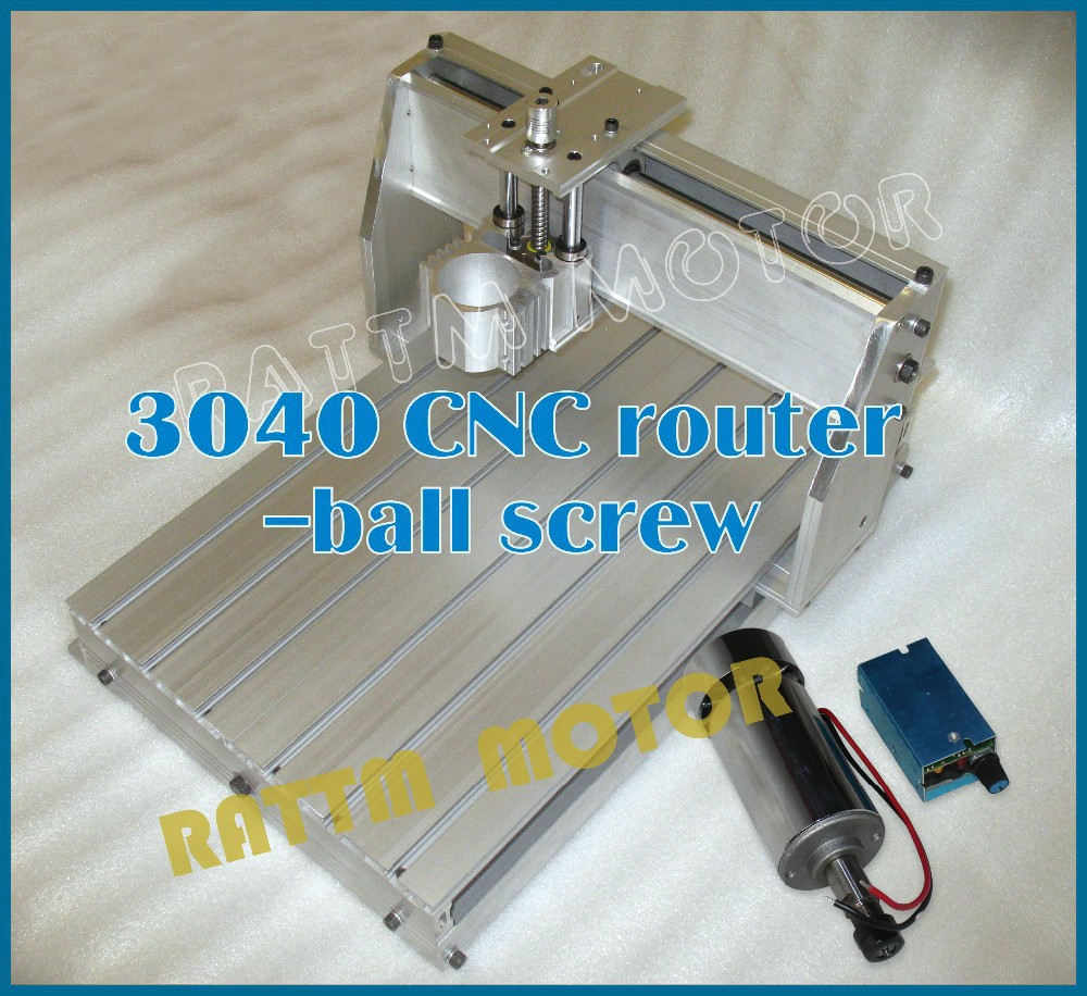 2016 Sale Wood Lathe Cnc Router Machine New 3040 Cnc Router Milling Machine Mechanical Kit Ball Screw with 300w for Dc Spindle diy cnc 3060 engraving machine 400w wood milling router 6030 ball screw cutting engraver lathe frame