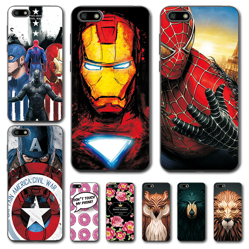 For Huawei Y5 Prime 2018 Silicone Case Cover Y5 2018 Novelty Captain America On Phone Case Coque For Huawei Y5 Prime 2018 5.45 For Fast Shipping Fitted Cases Cellphones & Telecommunications