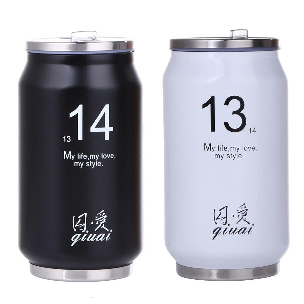 300ml Stainless Steel <font><b>Portable</b></font> 1314 Cans Mug Japanese Student Couple Simple <font><b>Cup</b></font> Cold Water <font><b>Sports</b></font> Water Bottles <font><b>Random</b></font> <font><b>Color</b></font>