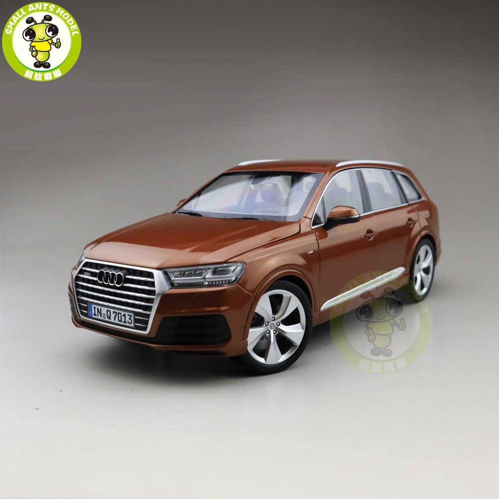 1/18 Minichamps Audi Q7 Almost Real Diecast Metal Car SUV Model Toys Girl Boy Birthday Gift Brown