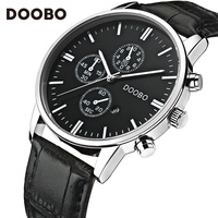 New DOOBO Watches Luxury Brand Men Watch Leather Fashion Quartz Watch Casual Male Sports Wristwatch Date