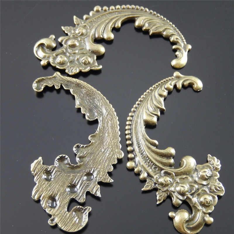 """סיטונאי 12 יחידות עתיק ברונזה אבץ סגסוגת יפה פרח מערבולת קסמי שרשרת תליוני תכשיטים מציאת 63x40*2 מ""""מ 30666"""
