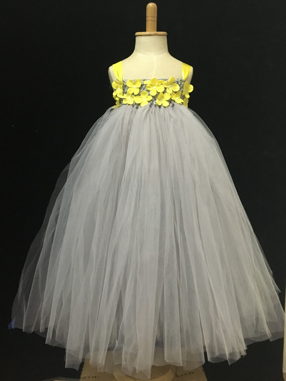 Buy Yellow Dress Kids Grey And Get Free Shipping On Aliexpress