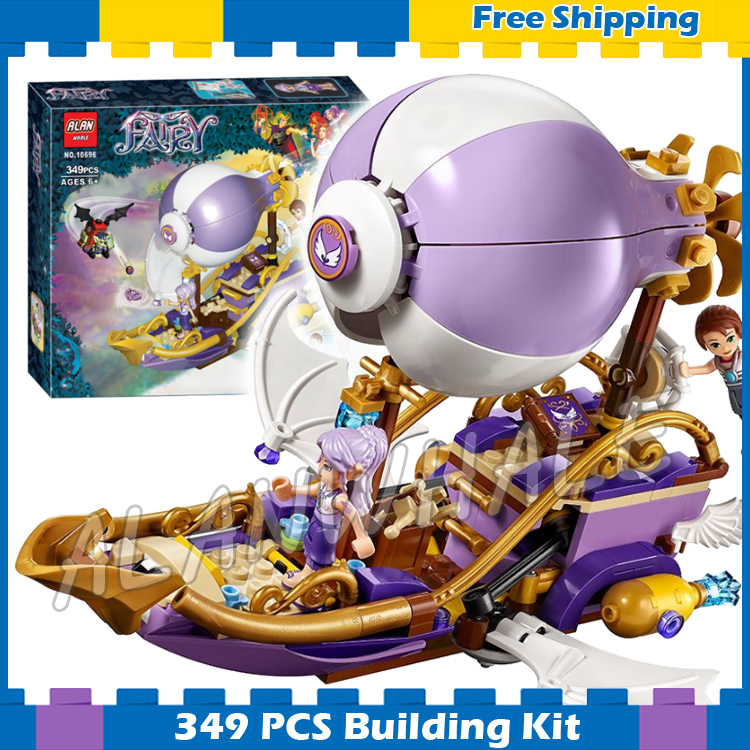 349pcs Elves Aira's Airship & the Amulet Chase Flying Boat <font><b>10696</b></font> Model Building Blocks Princess Gifts sets Compatible with Lego image