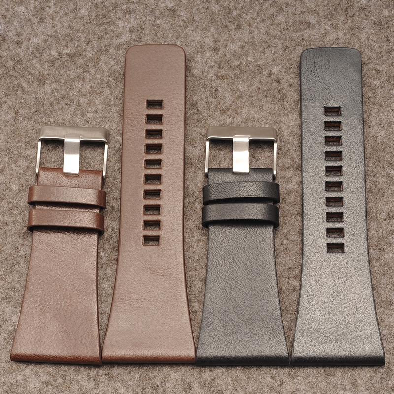 Leather strap for DZ1405 Strap 26 | 28 | 30 | 32 | 34mm calfskin watch accessories imported calfskin leather watch strap
