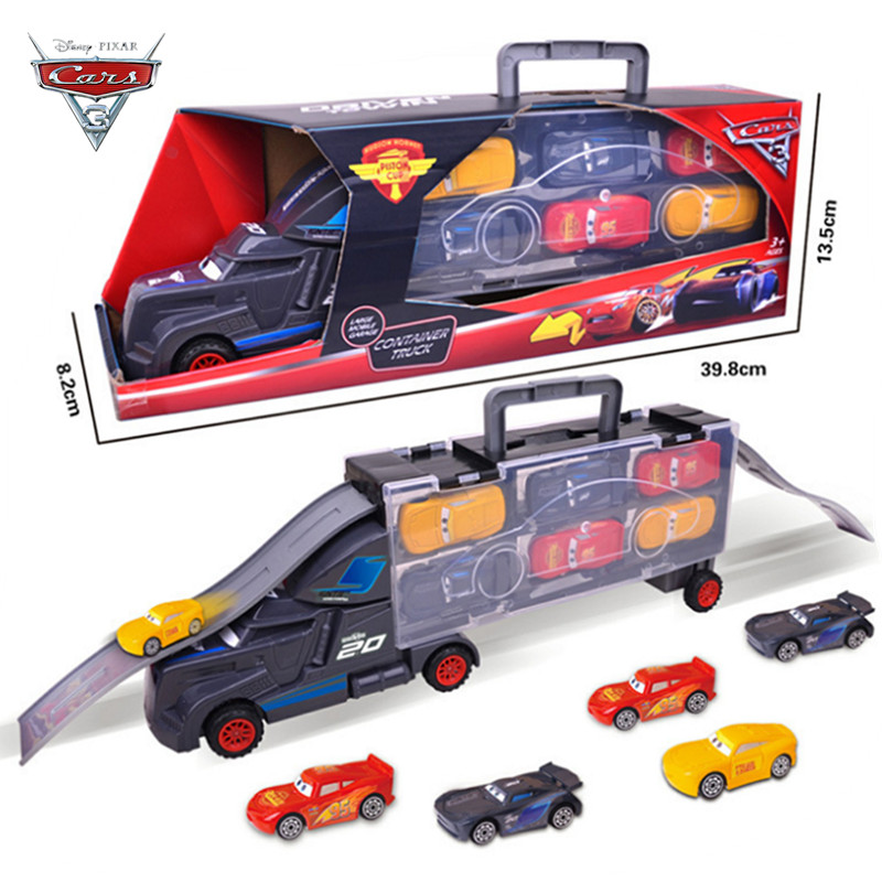 New Disney Pixar Car 3 Lightning McQueen Jackson Storm 7 Piece Set Mack Uncle Truck 1:55 Die Casting Car Model Boy Toy Gift