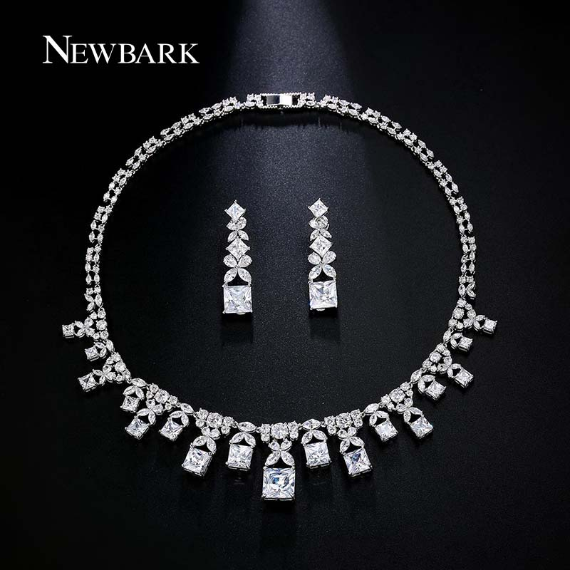 font b NEWBARK b font Luxurious Jewelry Sets Earrings And font b Necklace b font